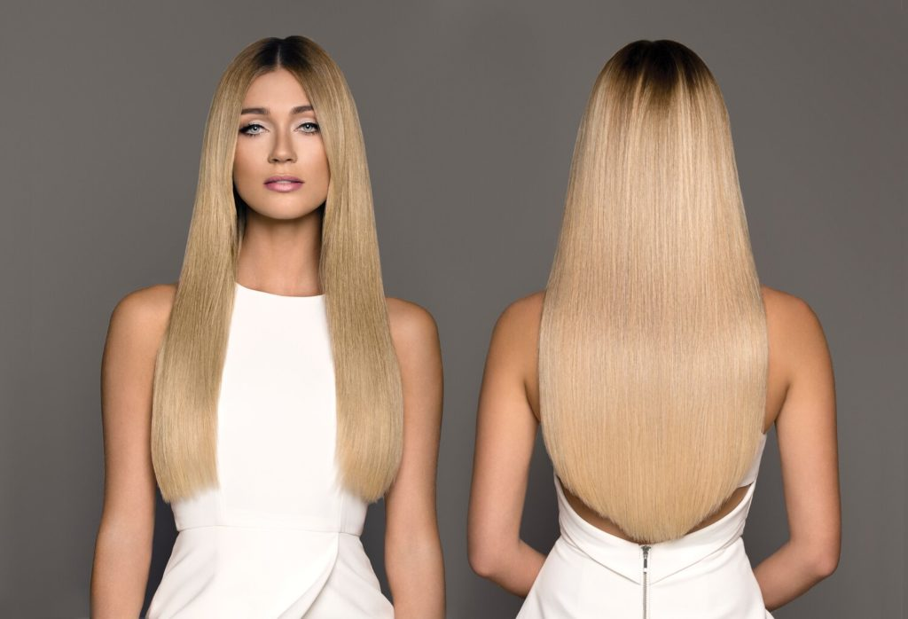 Пример голливудского наращивания волос