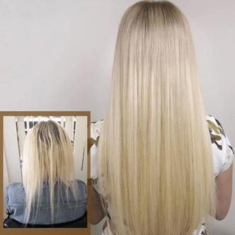 image - Наращивание волос до и после